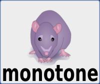 monotone mascot